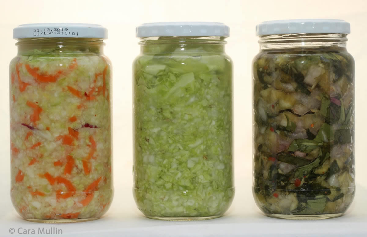 Sauerkraut and Kimchi