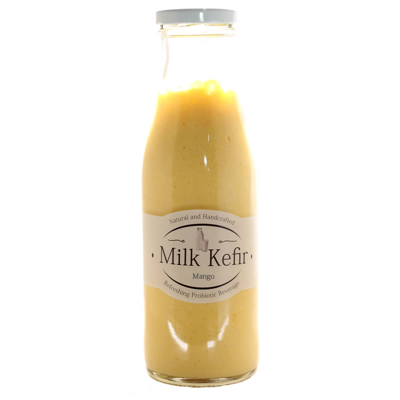 Raw Milk Kefir flavoured with mango, cinnamon and turmeric